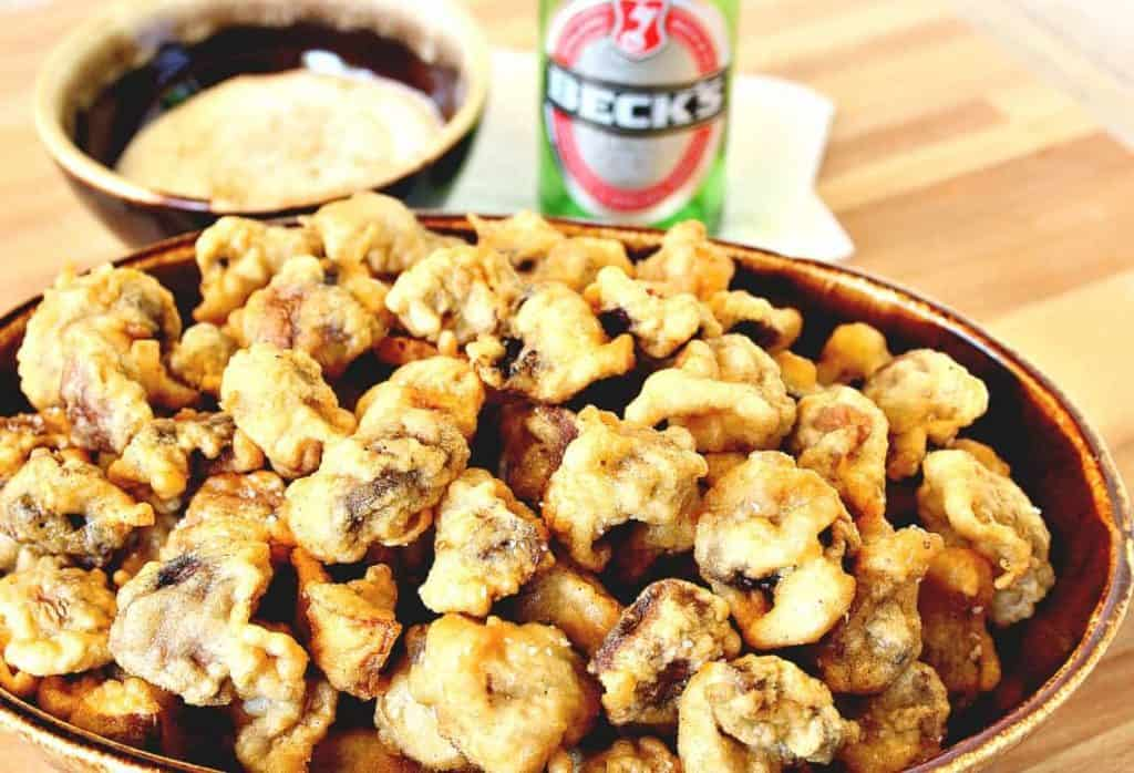 Beer Batter Fried Mushrooms