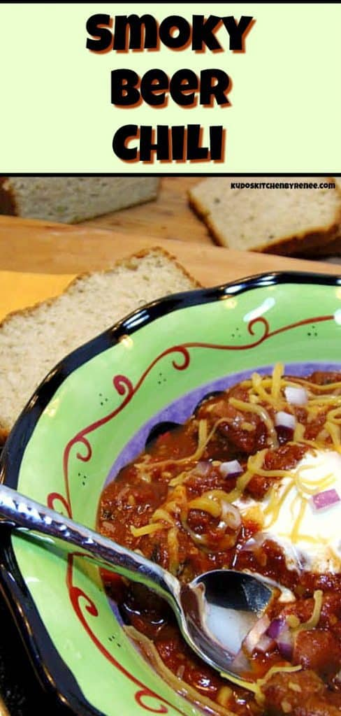 smoky beer chili - kudoskitchenbyrenee.com