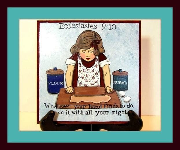 Ecclesiastes Hand Painted Ceramic Tile