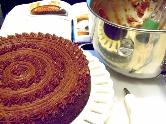 How to make chocolate velvet cake with chocolate butter cream frosting
