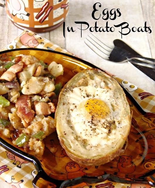 Eggs In Potato Boats Recipe