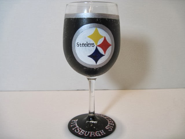 Steelers wine glass