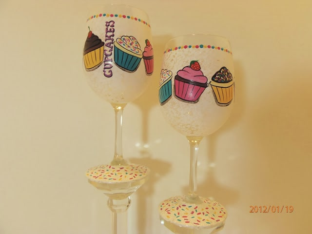 cupcake wine glasses