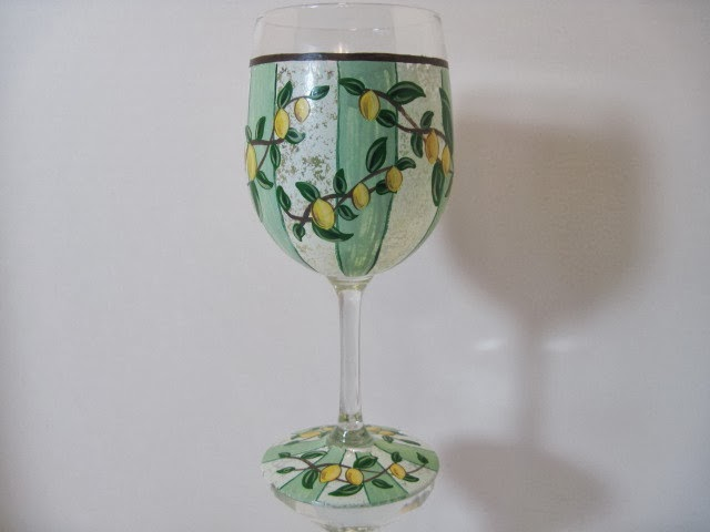 lemon wine glass