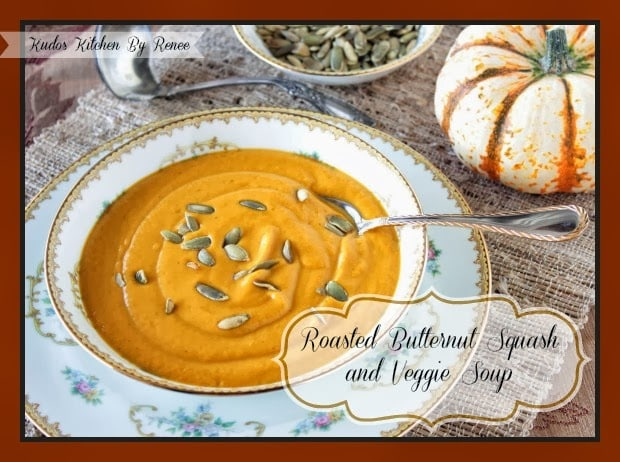 Roasted Butternut Squash and Veggie Soup Recipe