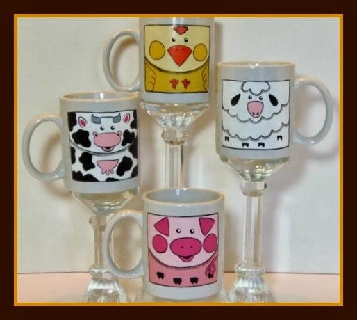 Barnyard Animals Coffee Mugs