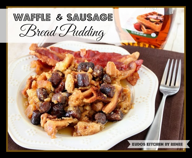 Waffle and Sausage Bread Pudding Recipe