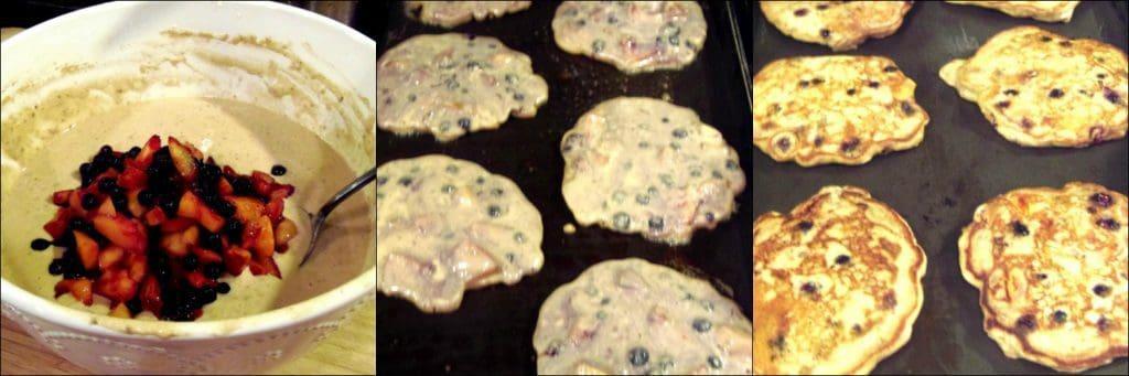 How to make Blueberry Peach Pancakes photo tutorial 2