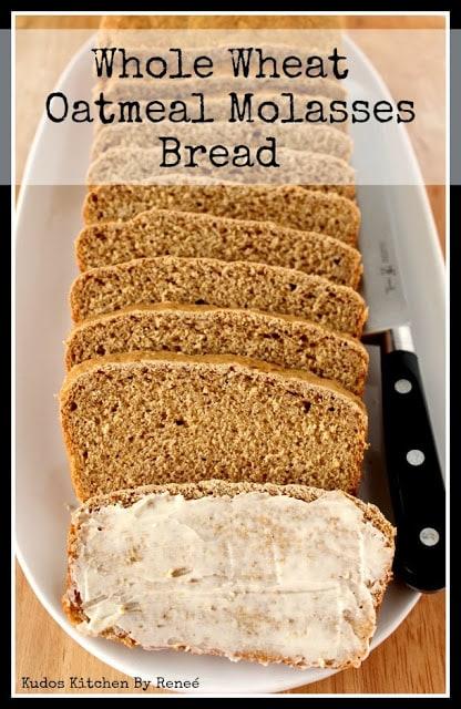 Whole Wheat Oatmeal Molasses Bread Recipe