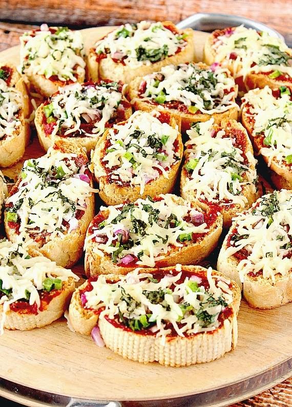 Mini French Bread Pizza Appetizers