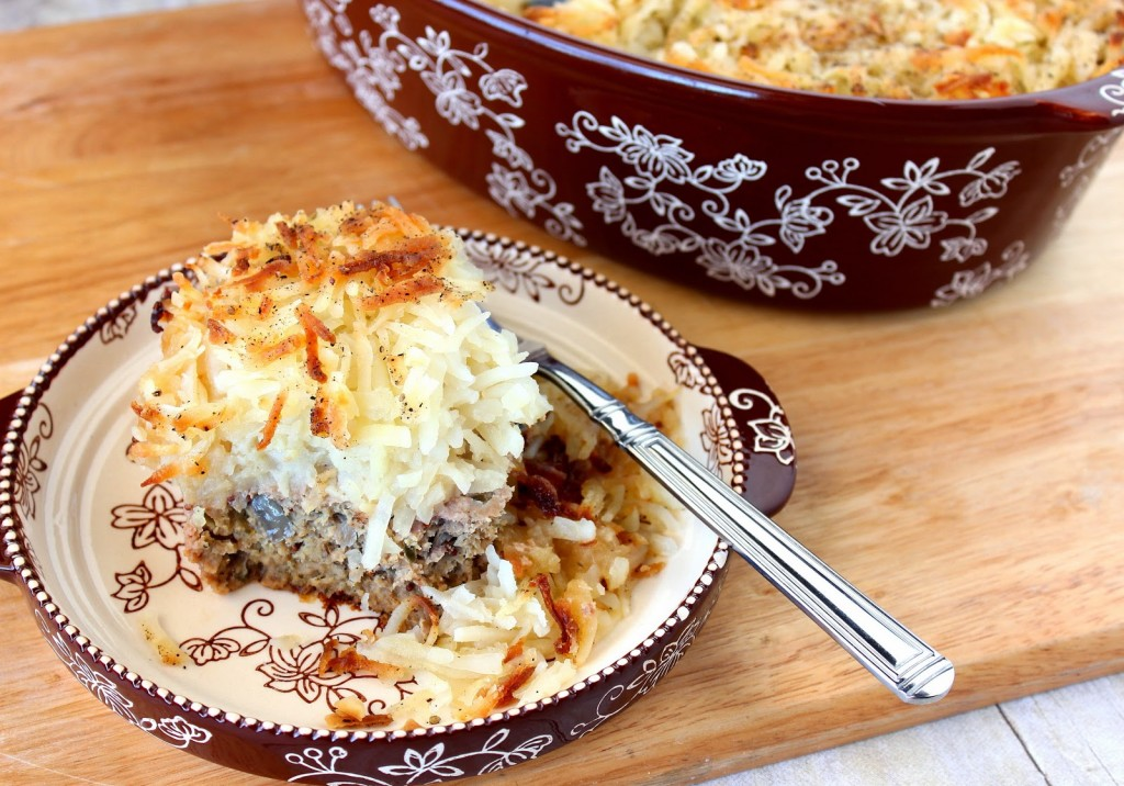 Kudos Kitchen By Renee - Turkey Meatloaf with Hash Brown Topping Recipe
