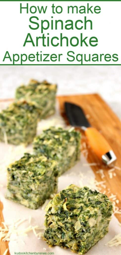 Title Text Image of spinach artichoke appetizers