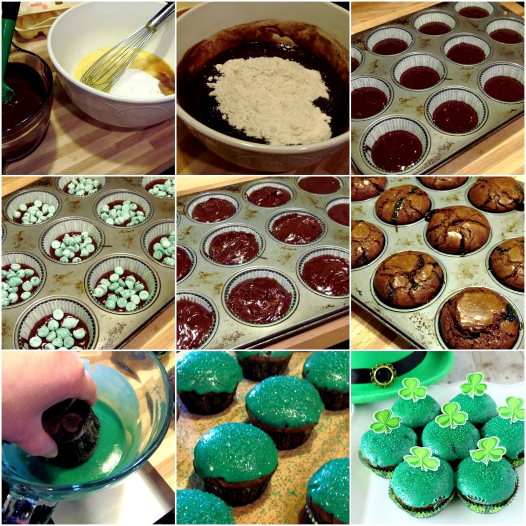 Chocolate Mint Brownie Cupcake Recipe