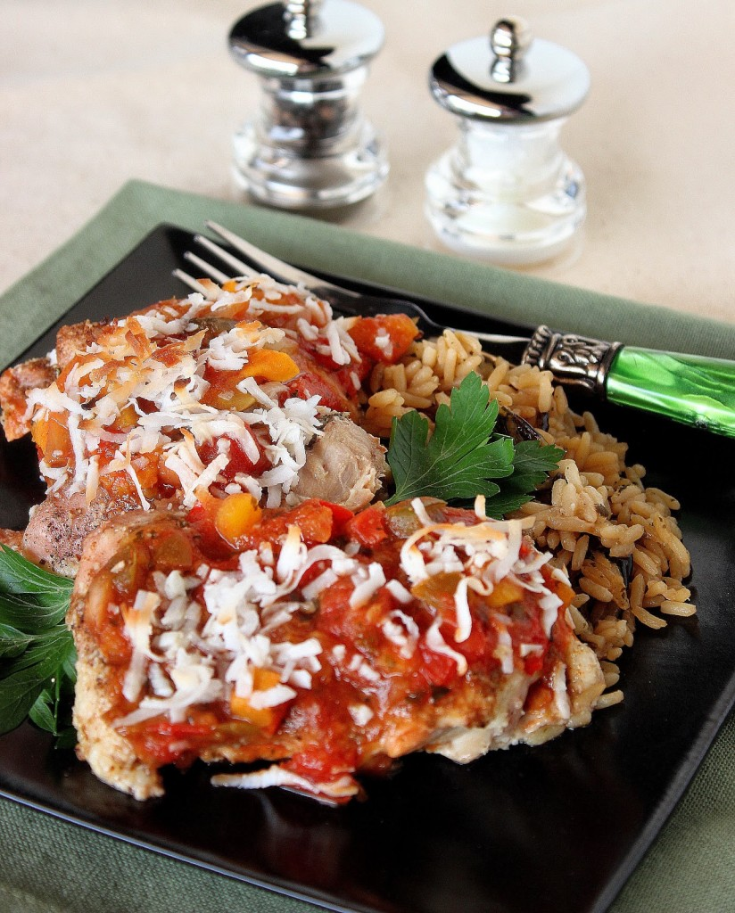 Tropical Salsa Chicken Recipe via Kudos Kitchen By Renee