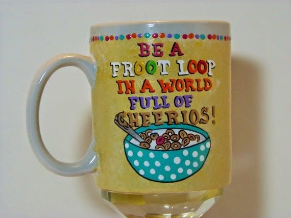 Froot Loops Cherrios coffee mug - kudoskitchenbyrenee.com