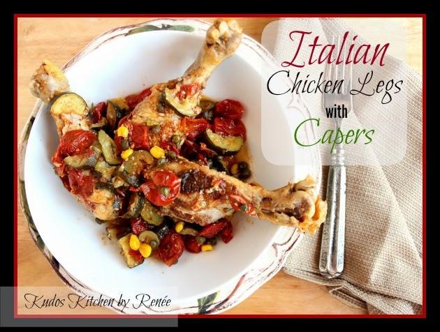 Italian Chicken Legs with Capers Recipe via kudoskitchenbyrenee.com