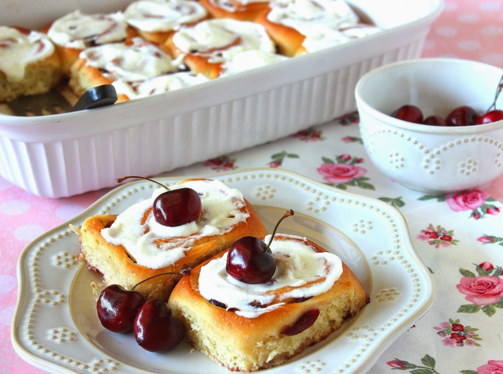 Sweet Cherry Rolls Recipe - www.kudoskitchenbyrenee.com