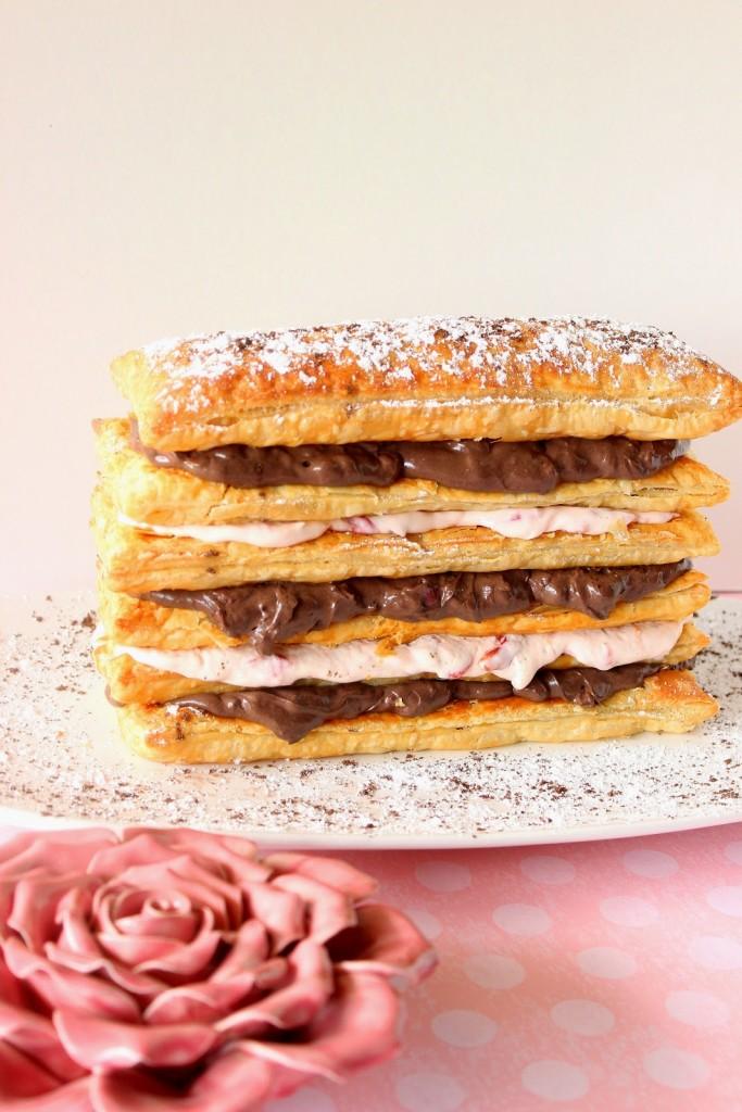Chocolate Cherry Cream Pastry Tower Recipe