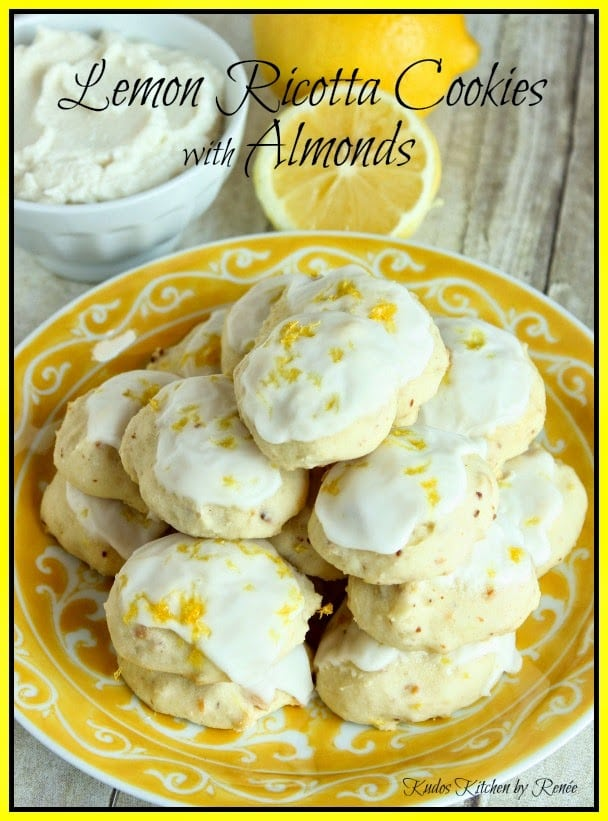 Lemon Ricotta Cookies with Almonds Recipe
