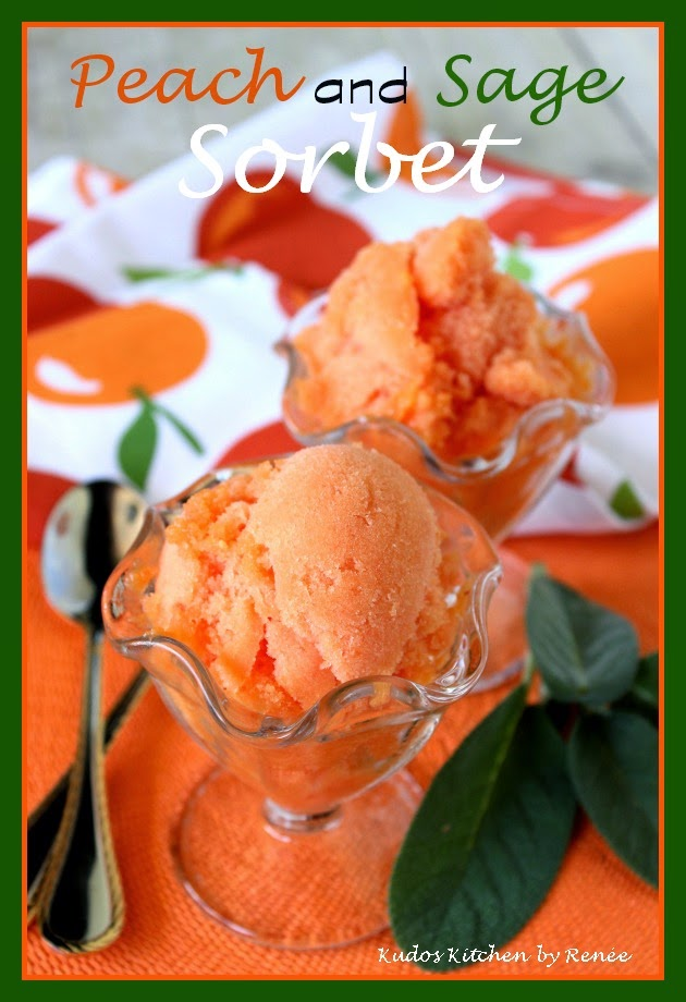 Peach Sorbet with Sage