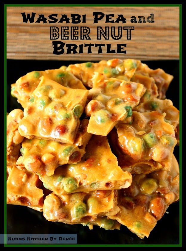 Wasabi Pea and Beer Nut Brittle Recipe