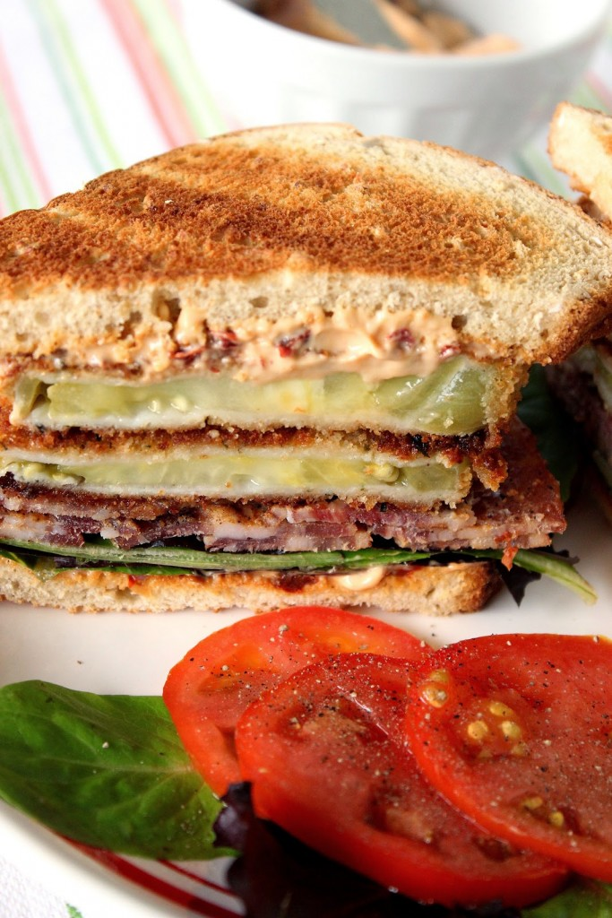 How to make a B, L and Fried Green T Sandwich