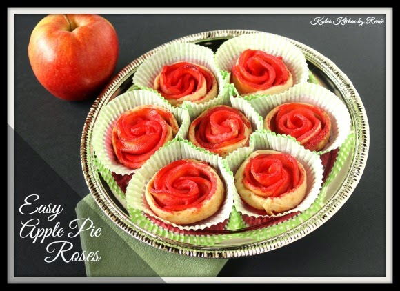 Easy Apple Pie Rose Recipe via kudoskitchenbyrenee.com