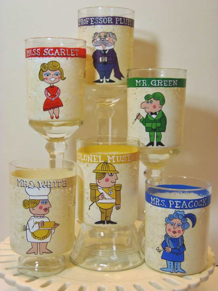 Retro Clue Characters Painted Tumblers