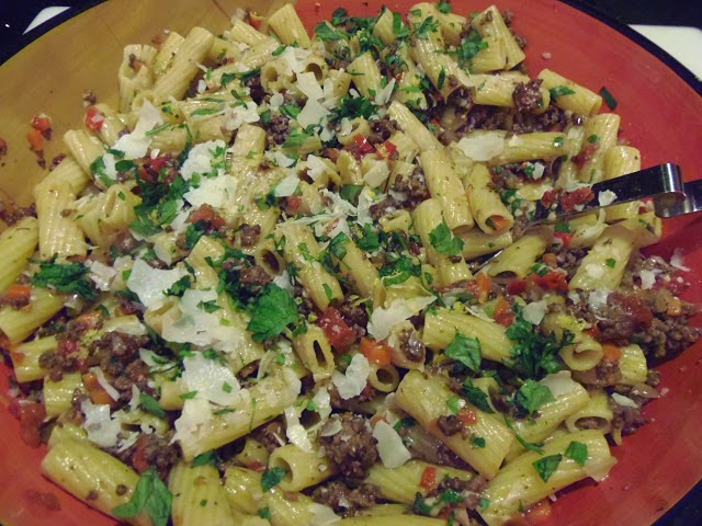 Rigatoni with Meat Sauce Recipe