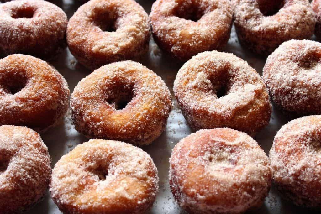 Mashed Sweet Potato Donuts with Cinnamon & Sugar - kudoskitchenbyrenee.com