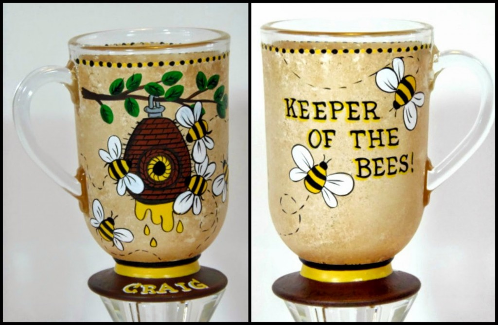 The Bee's Knees painted coffee mug via Kudos Kitchen by Renee