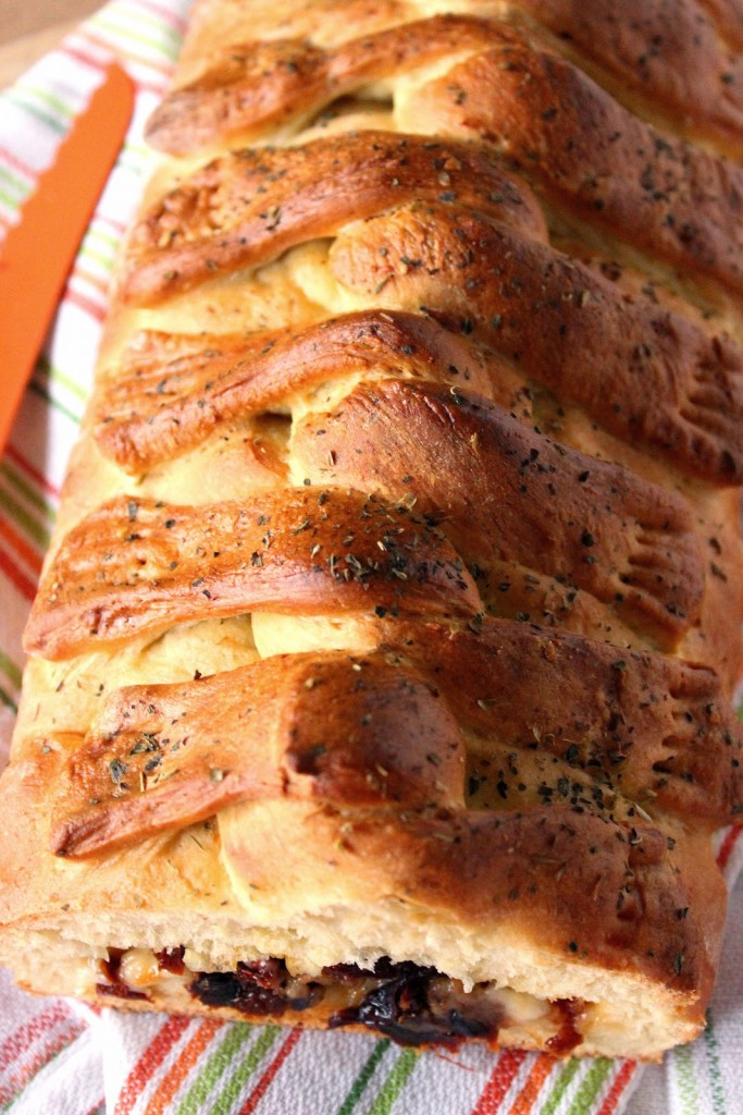 Stuffed Twisted Braided Bread / Kudos Kitchen by Renee