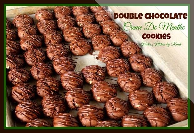 Double Chocolate Creme De Menthe Cookies / www.kudoskitchenbyrenee.com