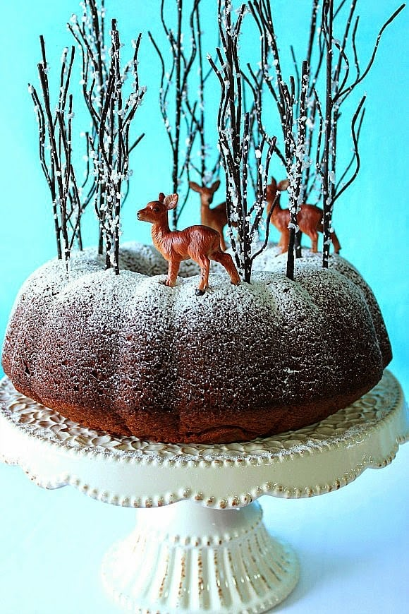 Gingerbread Mountain Cake makes a delicious and whimsical centerpiece for any holiday table.