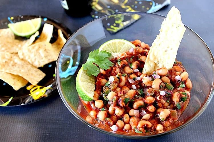 Serve this Black Eyed Pea Salsa on New Year's day and your year ahead will be filled with good luck, good health, and great taste! - kudoskitchenbyrenee.com