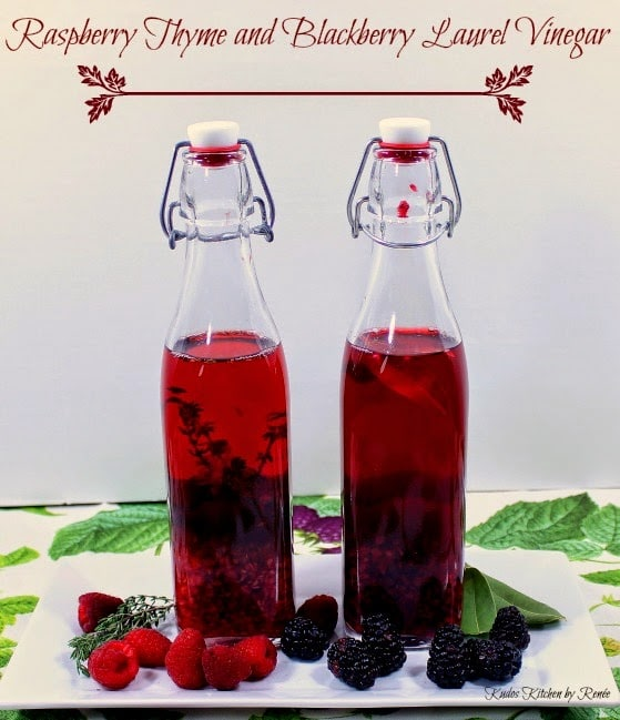 Raspberry Thyme and Blackberry Laurel Vinegar Recipes