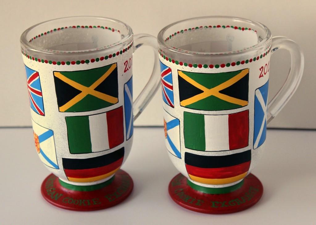 Flags of the World hand painted coffee mug. - kudoskitchenbyrenee.com