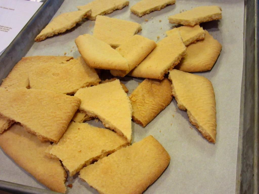 Broken pieces of Traditional Irish Shortbread. - kudoskitchenbyrenee.com