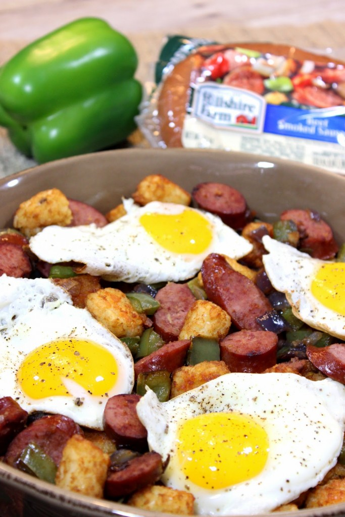 Beef Smoked Sausage and Tater Tot Casserole Recipe