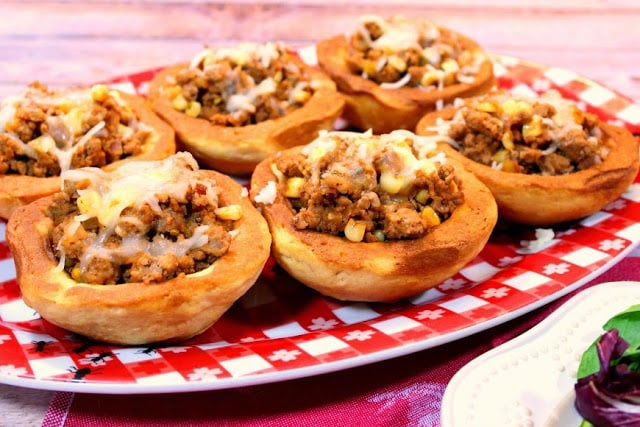 BBQ Turkey In Corn Muffin Bowls