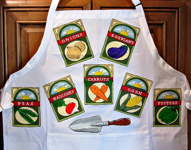 Hand Painted Gardening Apron