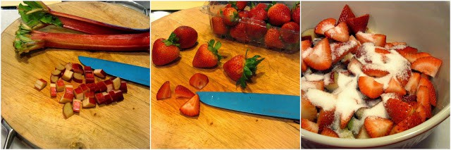 How to make old fashined strawberry rhubarb bundt cake 1