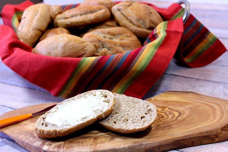 Whole Wheat Mexican Bolillos are soft on and inside and crusty on the outside. They're perfect for any type of sandwich.