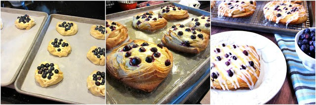 How to make homemade blueberry cheese danish photo tutorial.