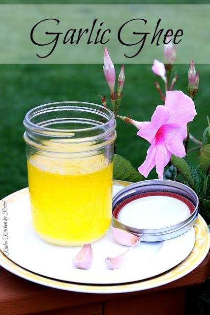 Homemade Garlic Ghee - kudoskitchenbyrenee.com