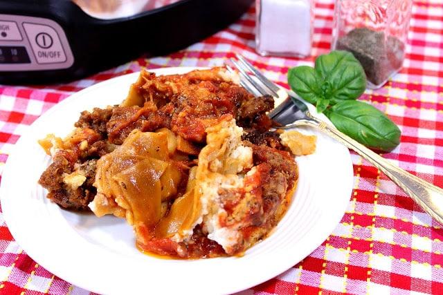 Slow Cooker Meatball Lasagna and Whole Grain Crock Pot Sausage Lasagna - kudoskitchenbyrenee.com