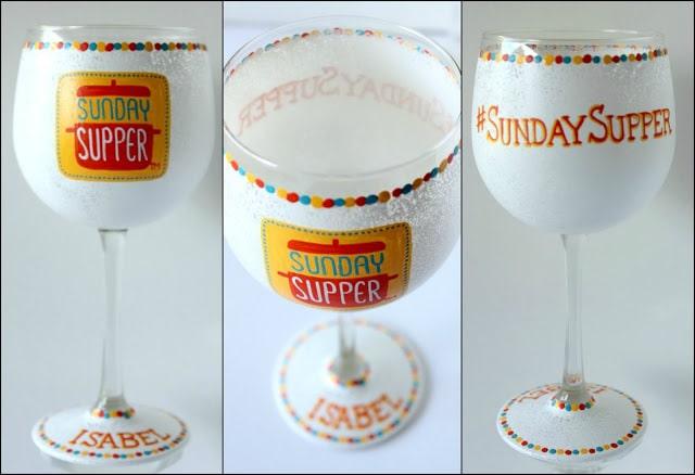 Sunday Supper Wine Glass