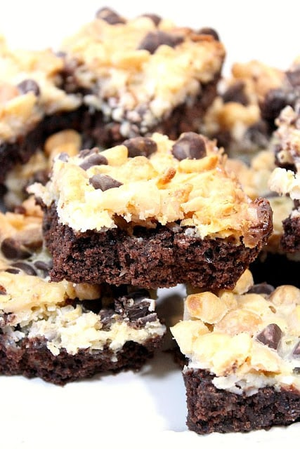 Magic Coconut Brownie Bars with Macadamia Nuts - kudoskitchenbyrenee.com