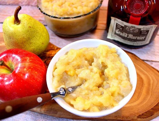 Apple Pear Sauce with Grand Marnier