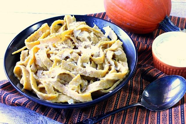 Homemade Pumpkin Pasta with Sage